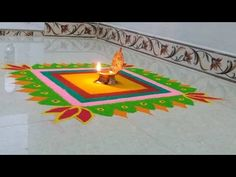 Easy and simple flower rangoli designs|Creative rangoli designs - YouTube