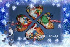 Decoratie hartjes kerstman