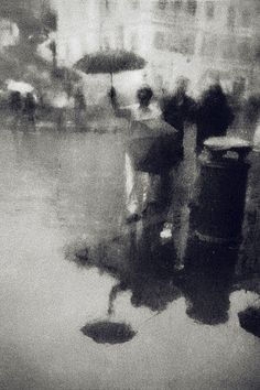 By Irma Haselberger. I am assuming early photography. White Photography, Street Photography, Landscape Photography, Artistic Photography, I Love Rain, Corel Painter, Singing In The Rain, Photo Art, Monochrome