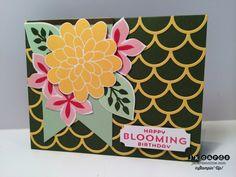 Flower patch, Fun fair famelits, Striped scallop thinlits, Birthday