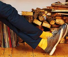 Stand-out socks show off stylish shoes
