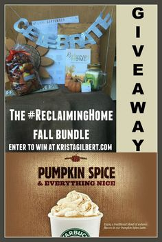 Win a copy of the book Reclaiming Home, some favorite fall decor, and a Starbucks gift card. #reclaiminghome #wearehome #fall