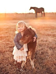My family's newborn mini horse and cute little girl pose for photo shoot. Result = Adorable - Imgur | FollowPics