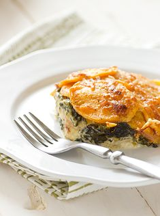 sweet potato & kale gratin from @Oh My Veggies