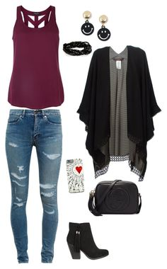 """Untitled #498"" by netteskytte on Polyvore featuring Yves Saint Laurent, Antonia Zander, Moschino and Gucci"