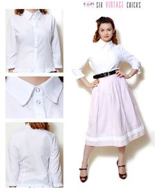 white shirt vintage women clothing ruffle blouse shirt sexy tops office clothes 90s clothing formal blouse minimalist button down shirt S by SixVintageChicks on Etsy