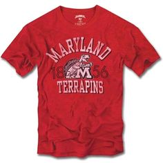 Premium Heather NCAA Maryland Terrapins Womens Tri Blend Deep V Short Sleeve Tee X-Large