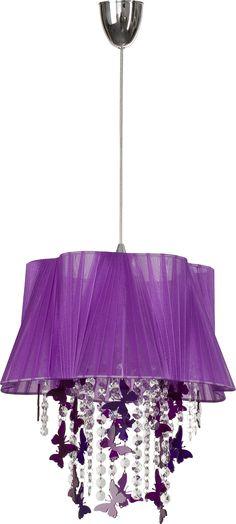 Fantazyjna lampa z motylkami będzie świetnym dodatkiem do dziewczęcego pokoju.