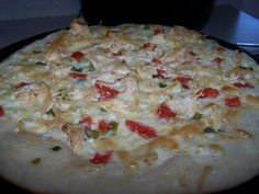 Dutch Oven Madness!: Day 113: Garlic Alfredo Chicken Pizza