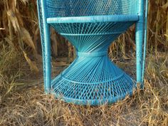 Reserved-Peacock Chair by GypsyAlley on Etsy