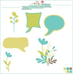 Digital Floral clip art bubbles balloons by VectorGraphicsCorner, $4.50