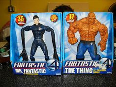 "FANTASTIC FOUR MOVIE THE THING & MR FANTASTIC 12"" FIGURES"