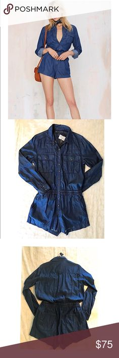 Blank NYC romper Blank NYC Living Dead Jean Romper Blank NYC Other