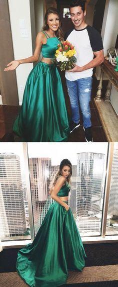 Hunter Green Long Prom Dress Formal Evening Dress