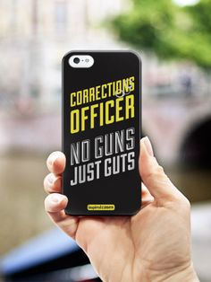 Inspired Cases Corrections Officer - No Guns, Just Guts Case #correctionofficer
