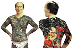 Tattoos in Japan are still associated with criminality, as tattoos were outlawed by the Japanese government in the century. Many public bath houses and other institutions still ban those with lar Large Tattoos, Irezumi, Body Art Tattoos, Body Painting, 19th Century, World, Japanese Style, Mafia, Bodies