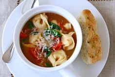 Tortellini soup by Annies Eats.  I made this last winter and it was really good, it's so quick and easy for a weeknight dinner.