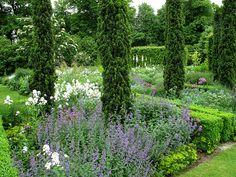 Tom Stuart-Smith, The Barn Garden Formal Gardens, Outdoor Gardens, Landscape Design, Garden Design, Smith Gardens, Purple Garden, Interior Garden, Back Gardens, Dream Garden