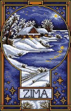 Winter landscape (Seasons of the year, winter)
