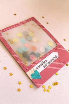 "Weekend at Bernii's: A weekend with ""Bright Skies"" project life kit - vellum confetti instagram pocket with sequins!"