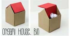 Learn how to make a Trash Bin origami from Paper Kawaii.