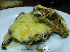 Recetas Caseras Fáciles MG: Lasaña de berenjena Lasagna, Good Food, Pork, Meat, Ethnic Recipes, Carne, Gastronomia, Eggplant Lasagna, Meals