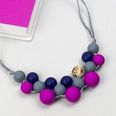 Silicone teething necklace: Disco Dot – Carly Dove Boutique