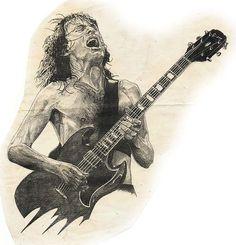 Angus Young(dibujos) - Taringa!