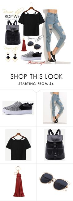 """""""ROMWE - 10/1"""" by thefashion007 ❤ liked on Polyvore"""