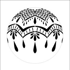 Fresh Lace Ornament Stencil - 4""