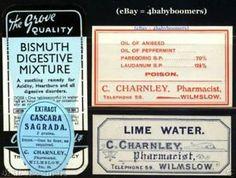 Image result for old medicine bottle labels