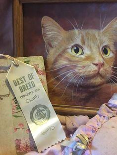 Vintage CFA CAT Show Satin Ribbon Rosette Award Best of Breed White