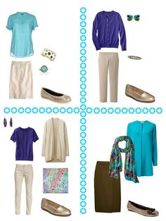 Turquoise and Purple! With a Warm Transitional Common Wardrobe