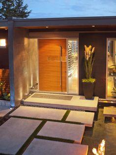 Simple plain timber door