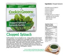 Chopped Spinach Sources Of Vitamin A, Sources Of Fiber, Valeur Nutritive, Chopped Spinach, Types Of Cancers, Vitamin C, Grocery Store, Packaging, Herbs