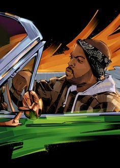 See amazing artworks of Displate artists printed on metal. Easy mounting, no power tools needed. Dope Cartoon Art, Dope Cartoons, Black Cartoon, Arte Do Hip Hop, Hip Hop Art, Ice Cube Rapper, Estilo Cholo, Mode Hip Hop, Arte Black