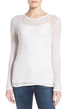 NIC+ZOE 'Backstory' Back Cutout Open Knit Top (Regular & Petite) available at #Nordstrom