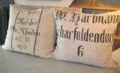 Old sack cushions
