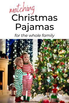 Matching Christmas Pajamas for the whole family. These Christmas pajamas are great for your Christmas Eve tradition or for the whole Christmas Season. Family Christmas, Christmas Photos, Christmas Crafts, Christmas Decorations, Holiday Decor, Christmas Eve Traditions, Matching Christmas Pajamas, Seasons, My Favorite Things