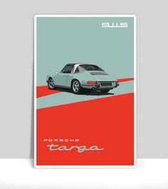 Porsche 911s Targa Aquamarine.gif