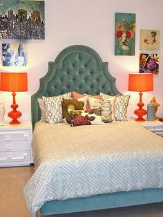 I love the colors and headboard!