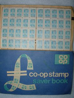 Photo by Kiran Parmar of Co-op savings stamps and book. Licked and stuck no end of these stamps in these books.