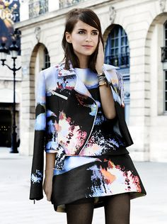 Miroslava Duma in Paris.