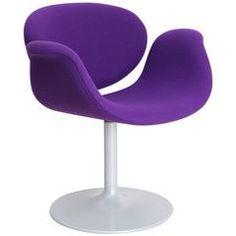 Pierre Paulin Purple Little Tulip Armchair, Edited by Artifort in 1965