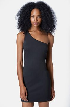 Topshop One-Shoulder Body-Con Dress available at #Nordstrom