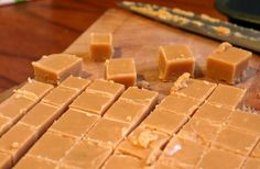 Scottish butter tablet using condensed milk, butter, milk, sugar, sea salt like a cross between toffee and fudge add vanilla bean paste for extra taste Milk Recipes, Brownie Recipes, Candy Recipes, Soup Recipes, Chef Recipes, Sausage Recipes, Cooker Recipes, Friendship Soup Recipe, Toffee