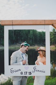 There are many forms of wedding entertainment, but photo booths are becoming a favorite. Get crafty with the setup, and don't hold back on the hilarious props! Tip: help guests avoid missing major reception moments (like the first dance) by keeping the booth closed during that time. Photo by Carina Skrobecki