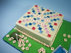 Scrabble Birthday Cake cakepins.com