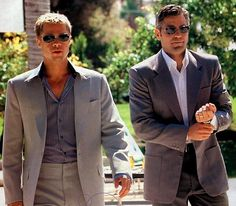 """Ocean's Eleven"" (2001) - Brad Pitt and George Clooney"