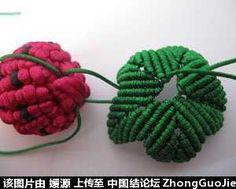 5号线编的草莓教程-编法图解-立体绳结教程与交流区-中国结论坛 - 手机版